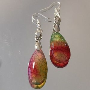 Jewelry - Dragon Veins Agate earrings